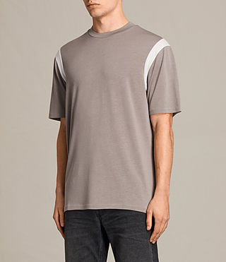 Herren Solen Crew T-Shirt (PUTTY BROWN/CHALK) - Image 2