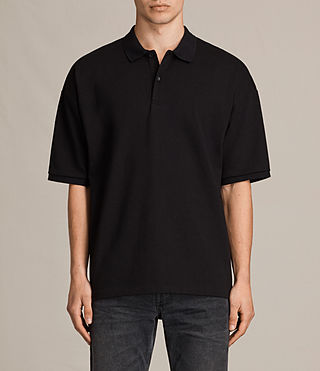 Uomo Polo Ivon maniche corte (Washed Black) -