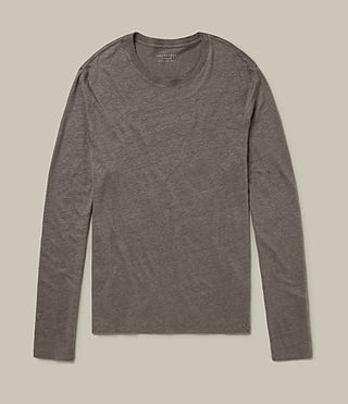 Herren Lucas Long Sleeve Crew T-Shirt (ANTHRACITE GREY) -