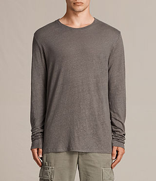 Herren Lucas Long Sleeve Crew T-Shirt (ANTHRACITE GREY) - product_image_alt_text_2