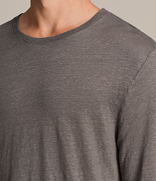 Herren Lucas Long Sleeve Crew T-Shirt (ANTHRACITE GREY) - product_image_alt_text_3