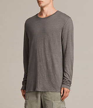 Herren Lucas Long Sleeve Crew T-Shirt (ANTHRACITE GREY) - product_image_alt_text_4