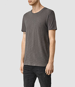 Mens Merit Crew T-Shirt (Slate Grey) - product_image_alt_text_2