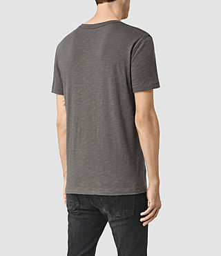 Mens Merit Crew T-Shirt (Slate Grey) - product_image_alt_text_3