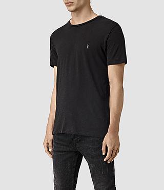 Hombres Merit Crew T-Shirt (Olive) - product_image_alt_text_3