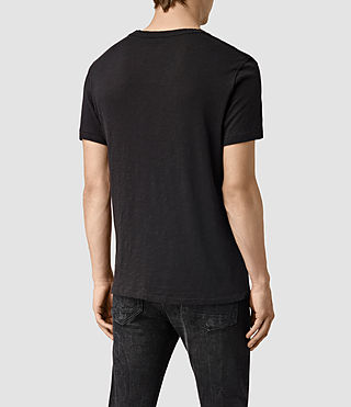 Hombres Merit Crew T-Shirt (Olive) - product_image_alt_text_4