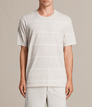 Men's Reef Crew T-Shirt (Chalk Marl) - product_image_alt_text_2
