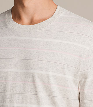 Men's Reef Crew T-Shirt (Chalk Marl) - product_image_alt_text_3