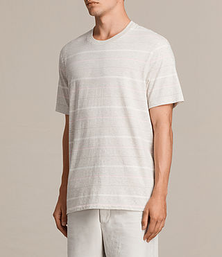 Men's Reef Crew T-Shirt (Chalk Marl) - product_image_alt_text_4