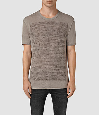 Hommes Cadfer Reverse T-Shirt (PUTTY BROWN/BLACK)
