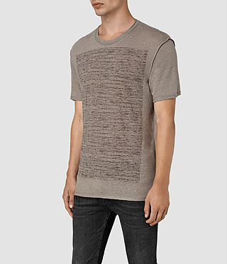Mens Cadfer Reverse T-Shirt (PUTTY BROWN/BLACK) - product_image_alt_text_2