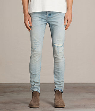 Hommes Jean Ine Cigarette (LIGHT INDIGO BLUE) - Image 1