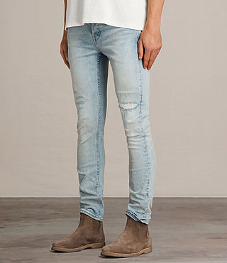 Men's Ine Cigarette Jeans (LIGHT INDIGO BLUE) - Image 3