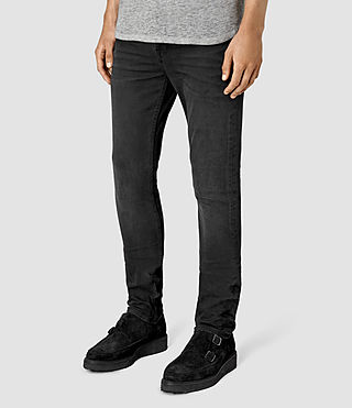 Mens Dubh Cigarette Jeans (Black) - product_image_alt_text_2