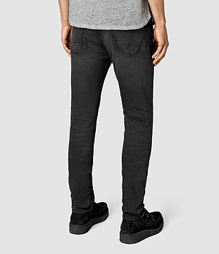 Mens Dubh Cigarette Jeans (Black) - product_image_alt_text_3