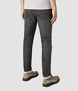 Mens Morar Cigarette Jeans (Black) - product_image_alt_text_3