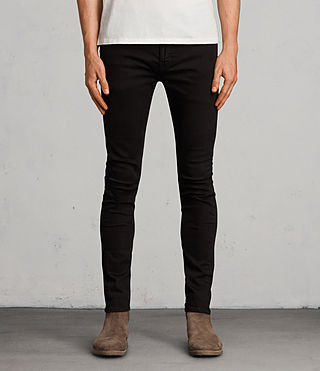 Mens Blouis Cigarette Jeans (Black) - product_image_alt_text_1