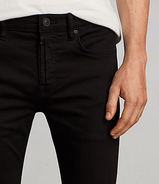 Mens Blouis Cigarette Jeans (Black) - product_image_alt_text_2