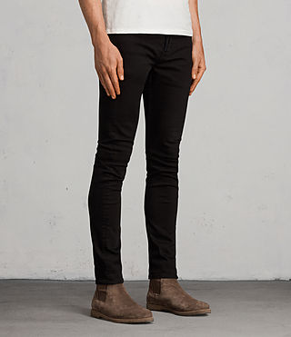 Mens Blouis Cigarette Jeans (Black) - product_image_alt_text_3
