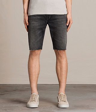 Hommes Short en jean Byers Switch (Jet Black) -