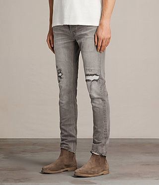 Men's Geti Rex Jeans (Light Grey) - product_image_alt_text_3