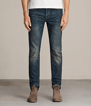 ALLSAINTS UK Mens Print Cigarette Jeans Black