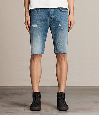 Hombre Ipava Switch Denim Shorts (Indigo Blue) - product_image_alt_text_1