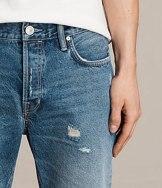 Hombre Ipava Switch Denim Shorts (Indigo Blue) - product_image_alt_text_2