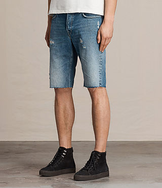 Hombre Ipava Switch Denim Shorts (Indigo Blue) - product_image_alt_text_3