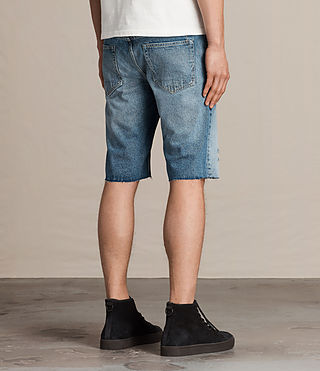Hombre Ipava Switch Denim Shorts (Indigo Blue) - product_image_alt_text_4