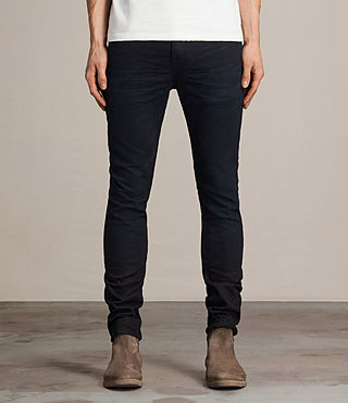 Mens Rannoch Cigarette Jeans (Indigo Blue) - product_image_alt_text_1