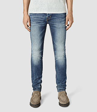 Mens Canna Cigarette Jeans (Indigo Blue) - product_image_alt_text_1
