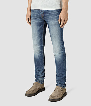 Mens Canna Cigarette Jeans (Indigo Blue) - product_image_alt_text_2