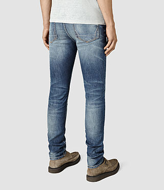 Mens Canna Cigarette Jeans (Indigo Blue) - product_image_alt_text_3
