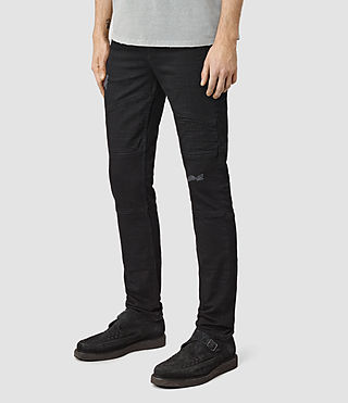 Mens Bors Hoxley Wilkins Jeans (Black) - product_image_alt_text_2