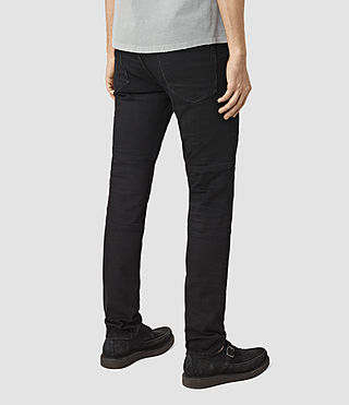 Mens Bors Hoxley Wilkins Jeans (Black) - product_image_alt_text_3