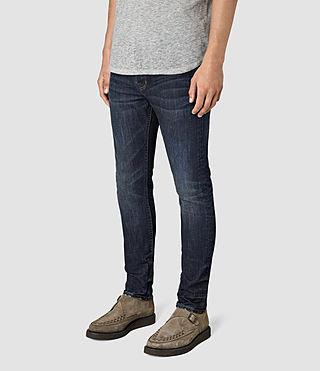 Mens Clachan Cigarette Jeans (Indigo Blue) - product_image_alt_text_2