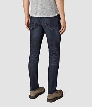 Mens Clachan Cigarette Jeans (Indigo Blue) - product_image_alt_text_3