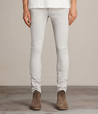 Mens Gokase Cigarette Jeans (Light Grey) - product_image_alt_text_1