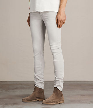 Mens Gokase Cigarette Jeans (Light Grey) - product_image_alt_text_3