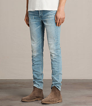 Men's Ide Rex Jeans (LIGHT INDIGO BLUE) - Image 2