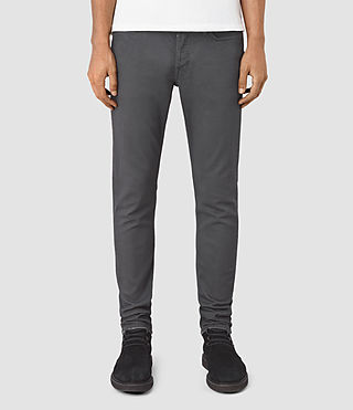 Mens Tummel Cigarette Jeans (Grey)