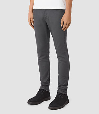 Mens Tummel Cigarette Jeans (Grey) - product_image_alt_text_2