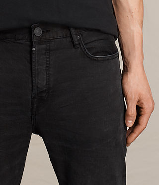 Men's Kaneko Cigarette Jeans (Black) - product_image_alt_text_2