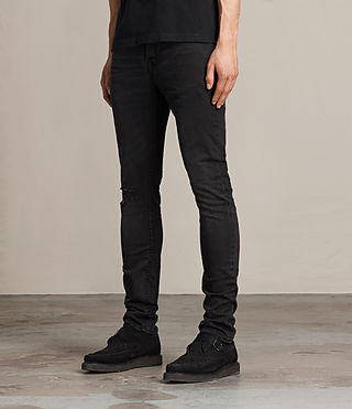Men's Kaneko Cigarette Jeans (Black) - product_image_alt_text_3