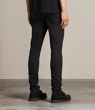 Men's Kaneko Cigarette Jeans (Black) - product_image_alt_text_4
