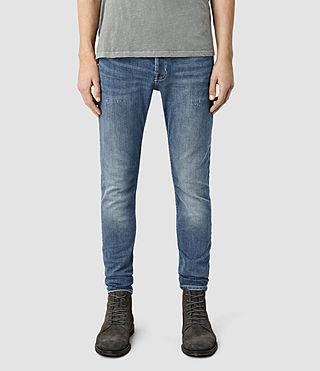 Mens Valensi Cigarette Jeans (Indigo Blue)