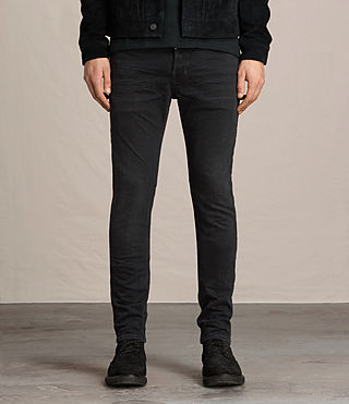 Mens Beale Cigarette Jeans (Jet Black) - product_image_alt_text_1