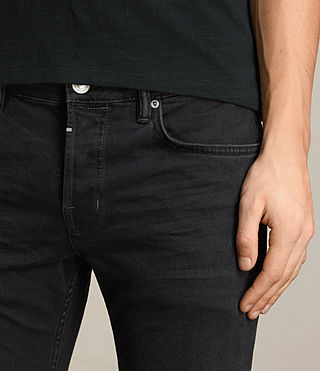 Mens Beale Cigarette Jeans (Jet Black) - product_image_alt_text_2