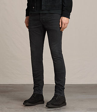 Mens Beale Cigarette Jeans (Jet Black) - product_image_alt_text_4